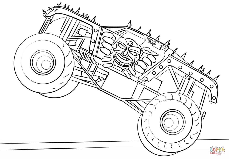 Ausmalbild Max D Monster Truck