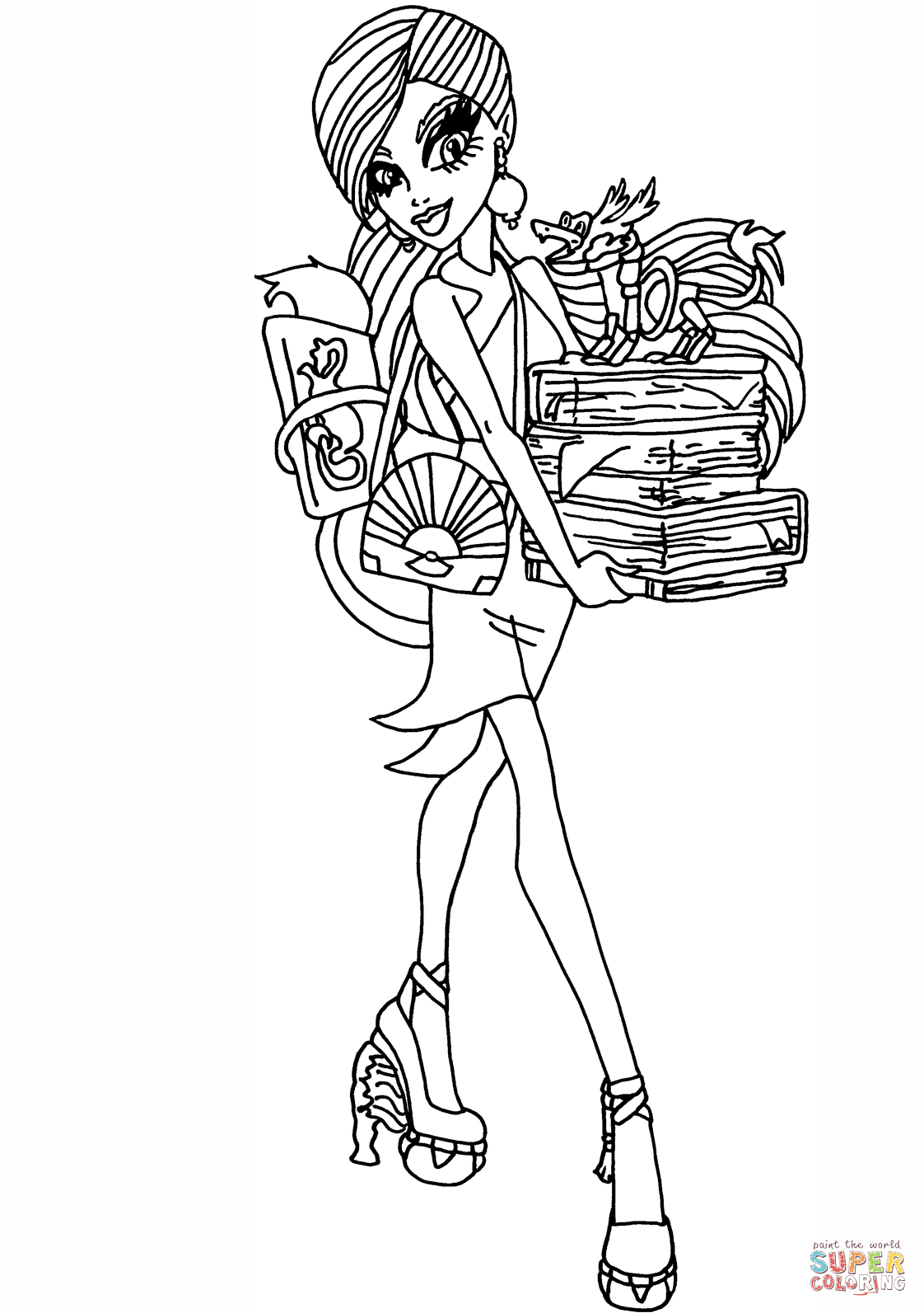 New Scaremester Jinafire Coloring Page