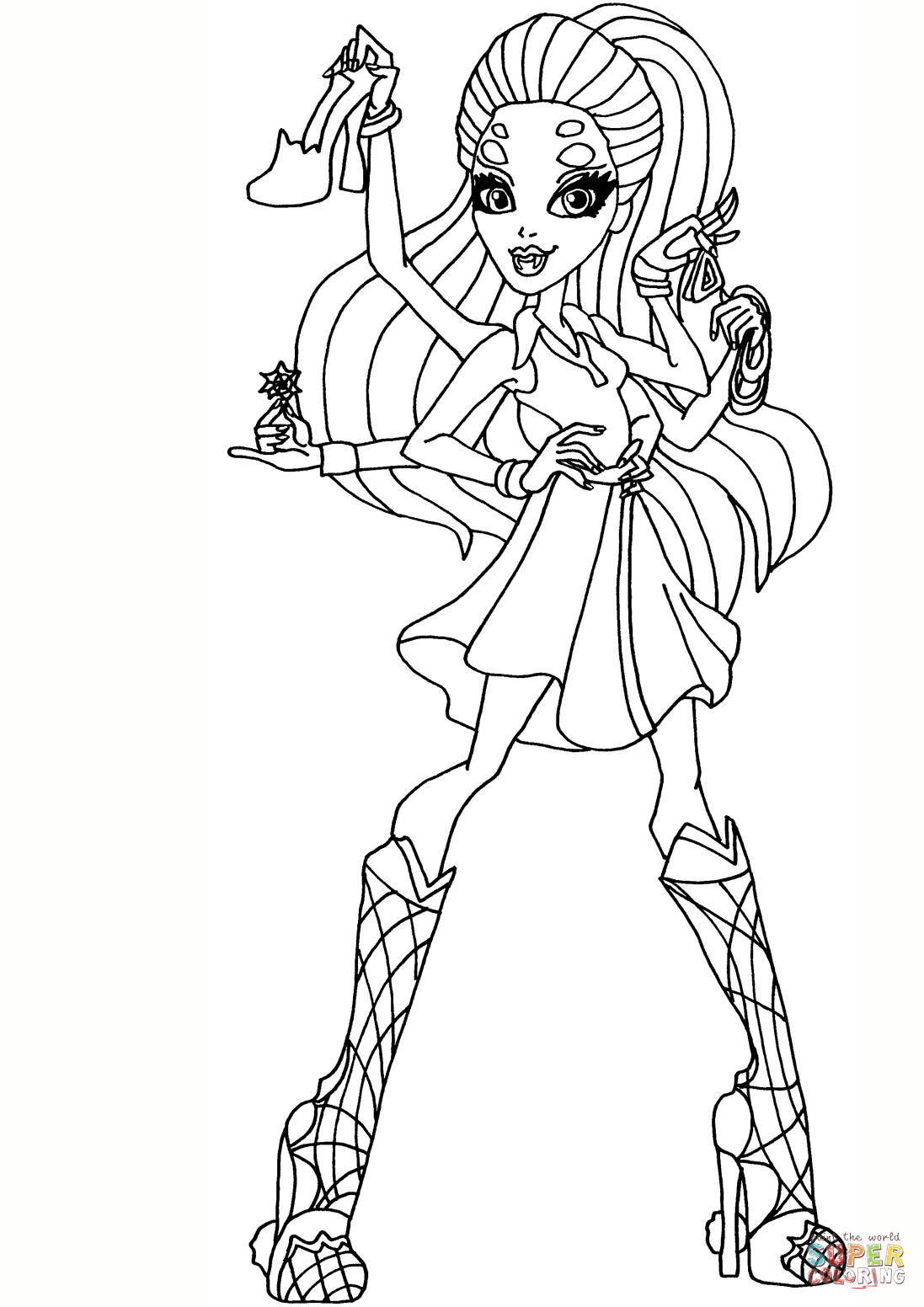 Wydowna Spider Coloring Page Free Printable Coloring Pages