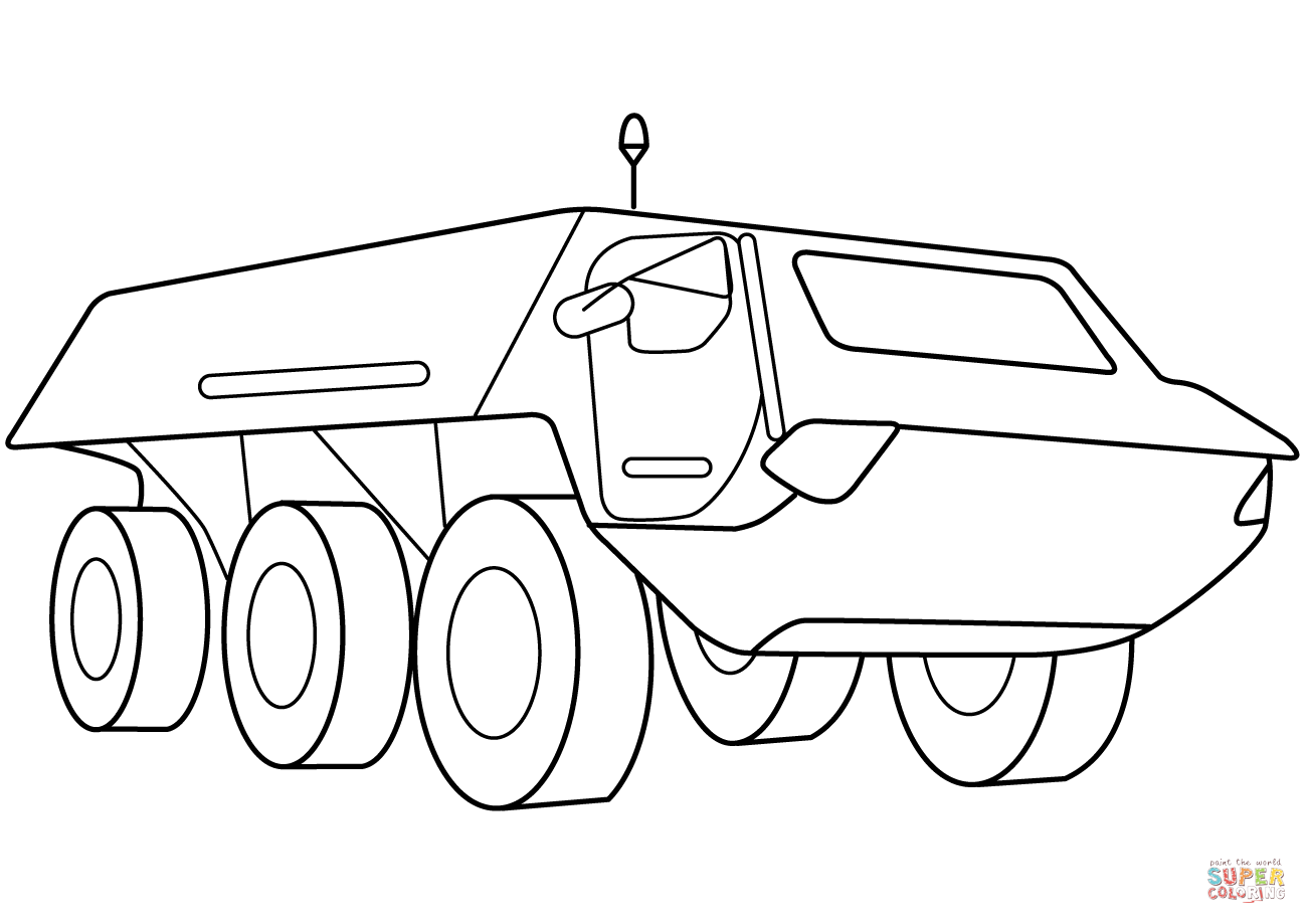 Armored Security Vehicle Coloring Page