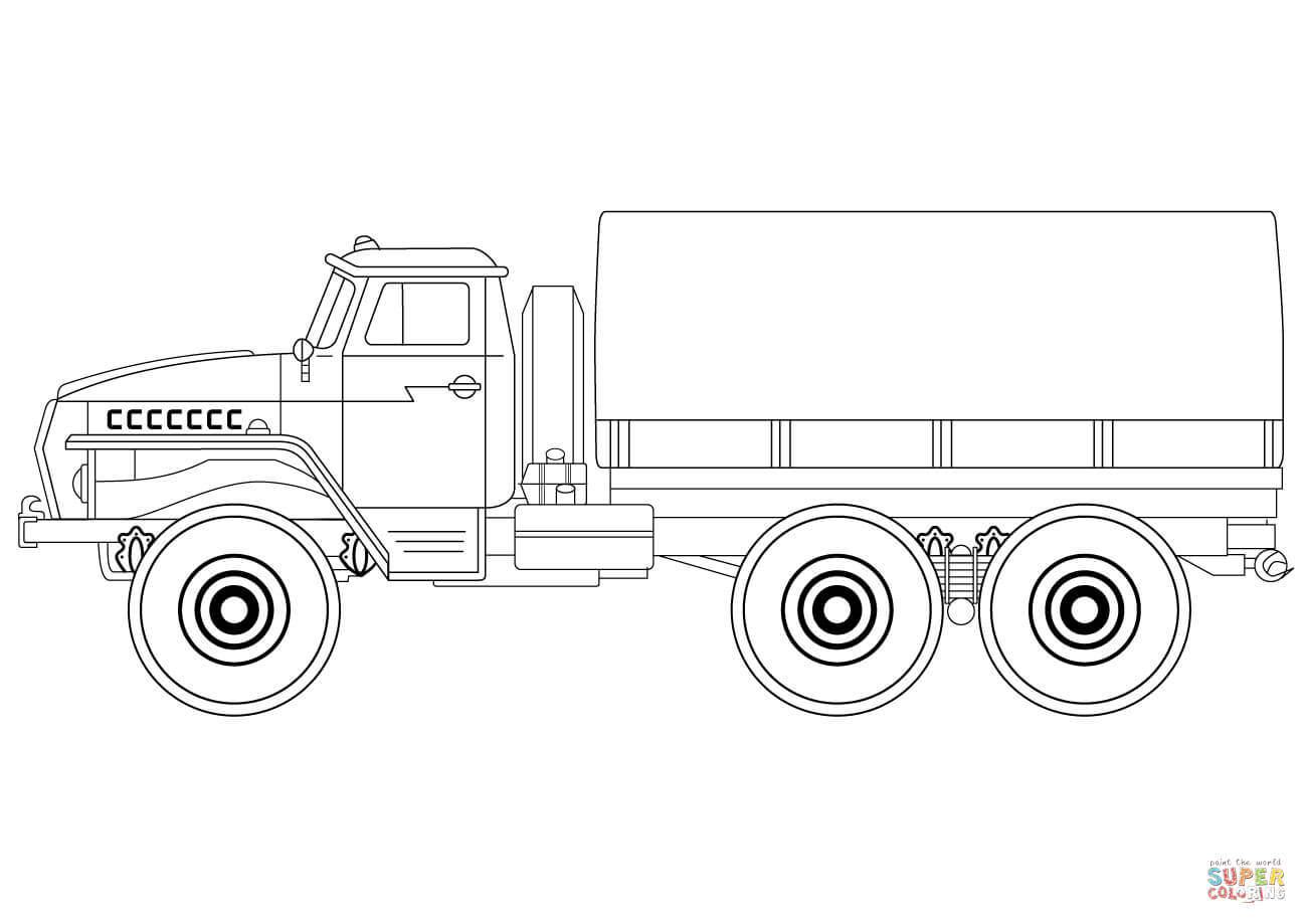 Army Truck Coloring Page