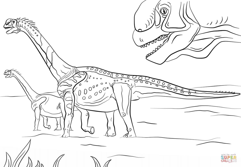 Jurassic Park Camarasaurus Coloring Page Free Printable Coloring
