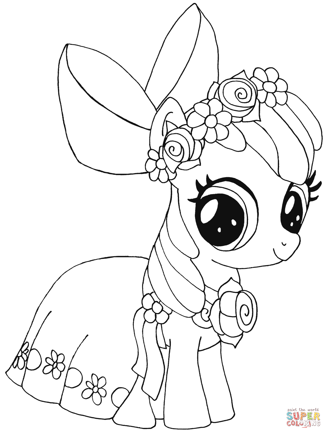 My Little Pony Apple Bloom Coloring Page Free Printable Coloring