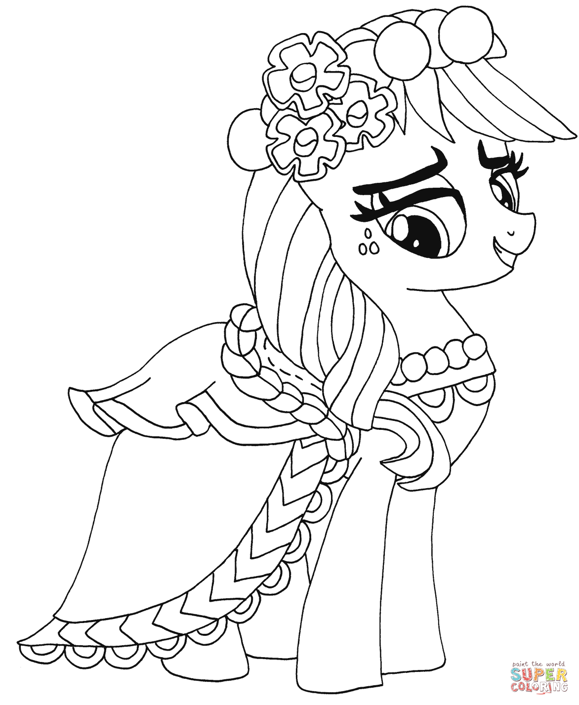 Princess Applejack Coloring Page Free Printable Coloring Pages