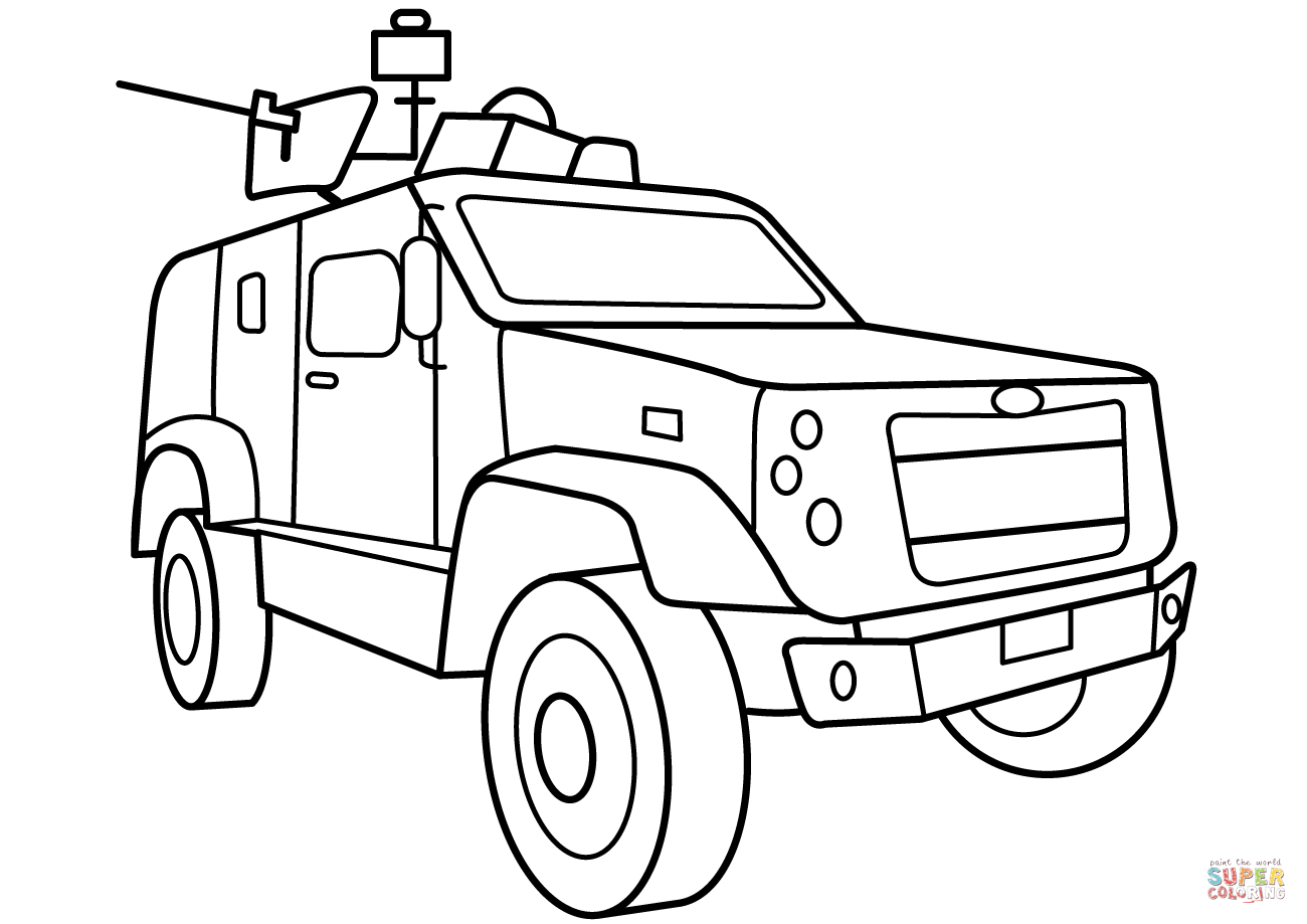 Oshkosh M Atv Vehicle Coloring Page