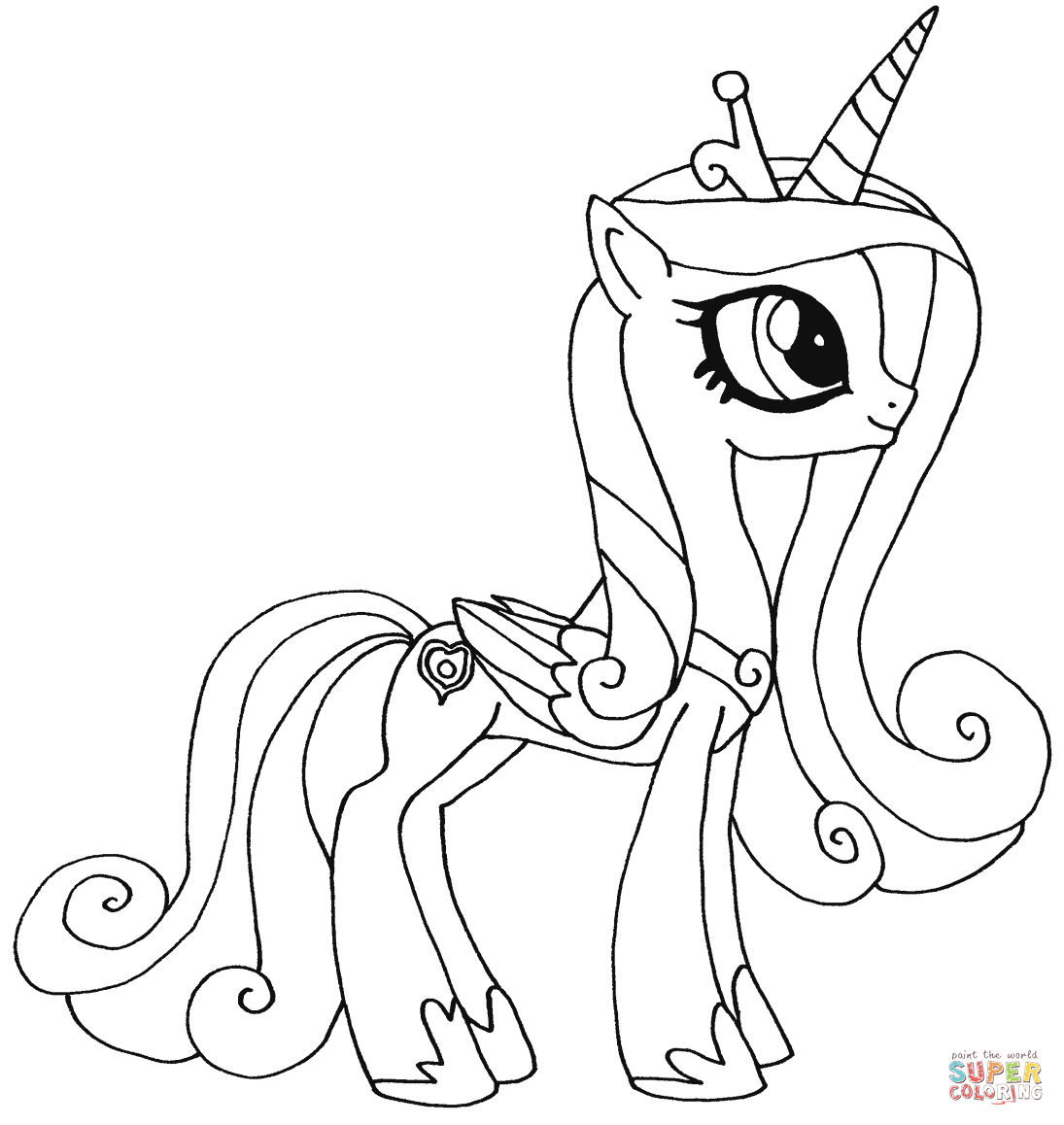 Princess Candance Coloring Page