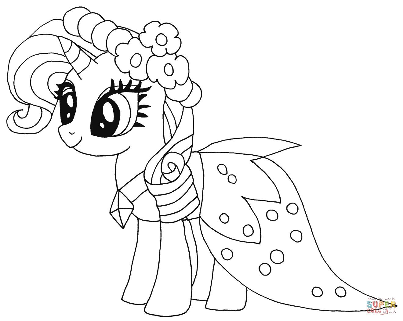 Princess Rarity Coloring Page