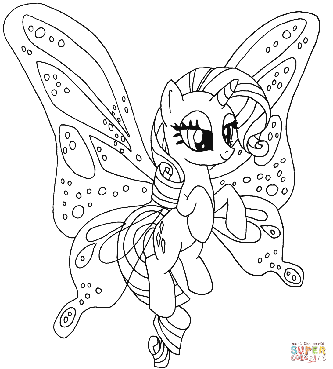Rarity Pony Coloring Page