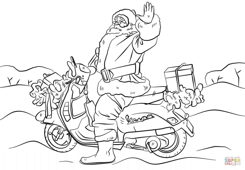 Joulupukki Moottoripyoralla Varityskuva