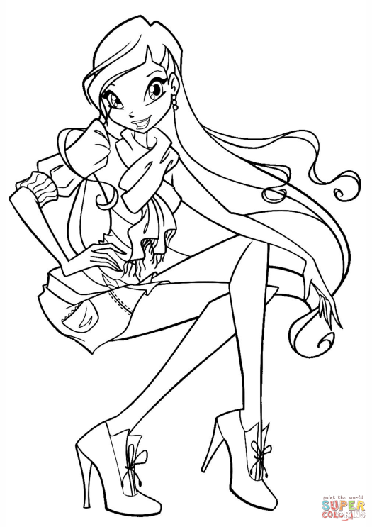 Winx Club Stella Coloring Pages