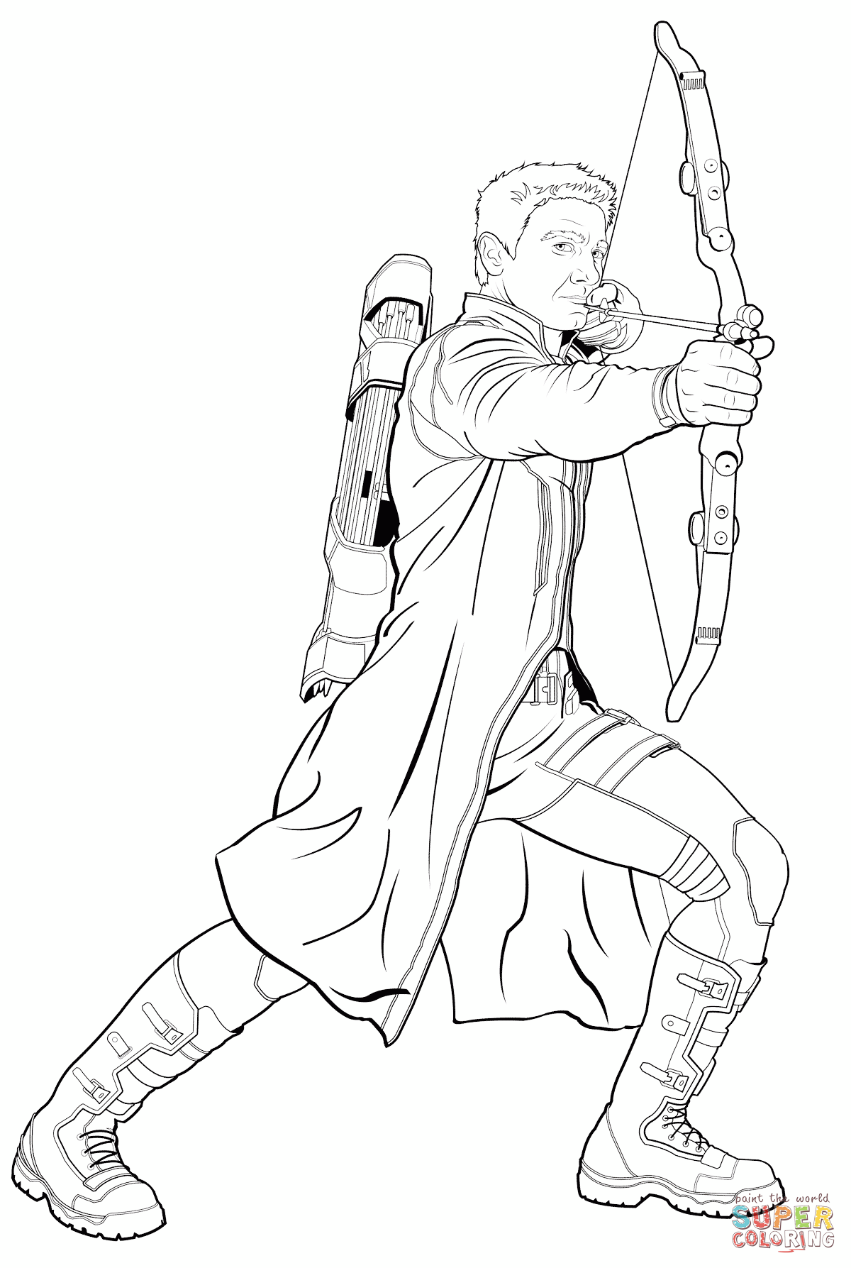 Avengers Hawkeye Coloring Page