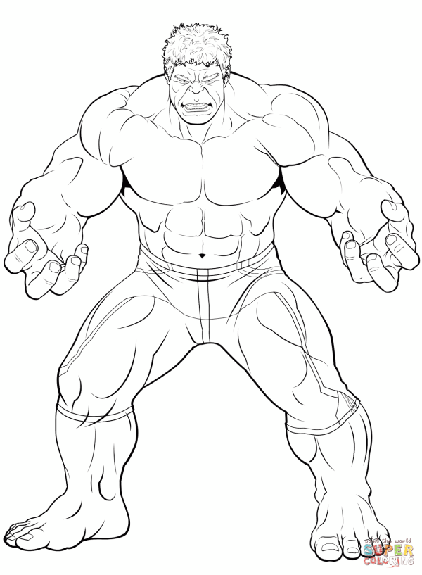 Avengers The Hulk coloring page | Free Printable Coloring ...