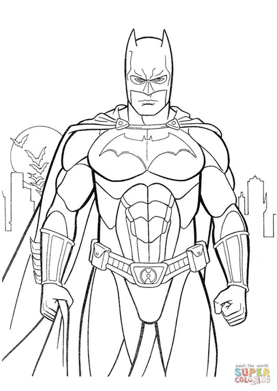 Batman Coloring Page Free Printable Coloring Pages
