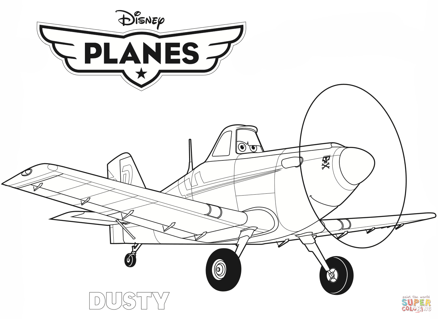 Plane Coloring Pages Free Coloring Pages Download | Xsibe pixar ...