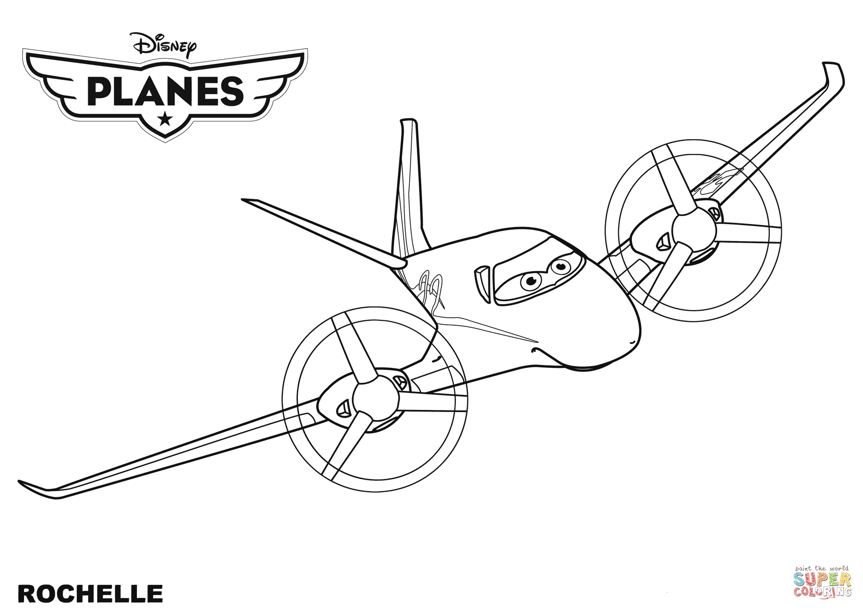 Disney Planes Rochelle Coloring Page