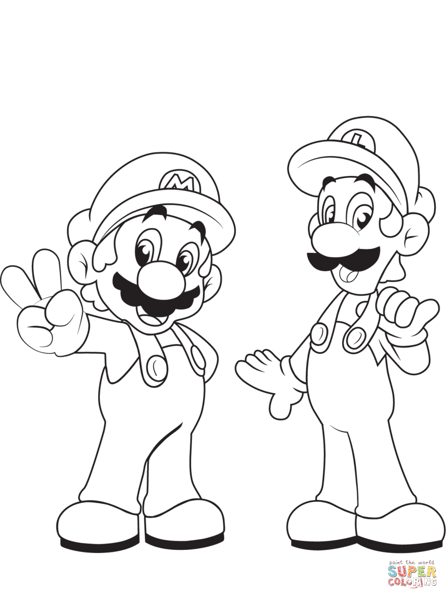 super mario bros coloring pages free coloring pages download xsibe
