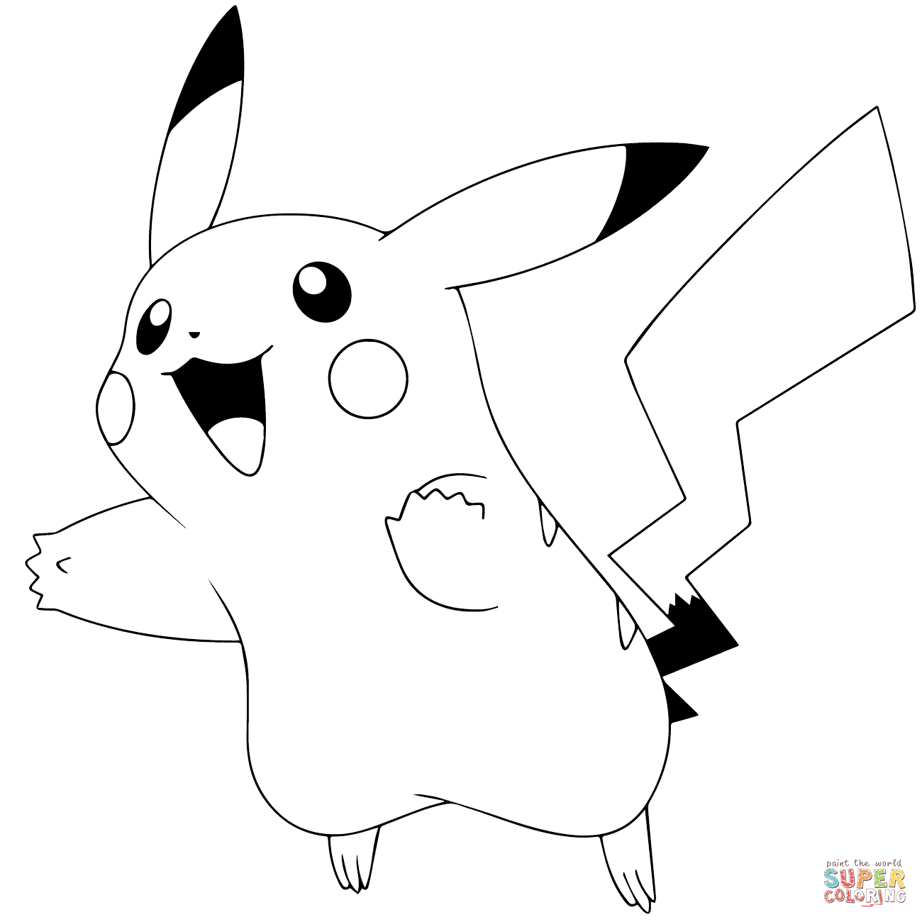 Pokémon Go Pikachu Coloring Page Free Printable Coloring Pages
