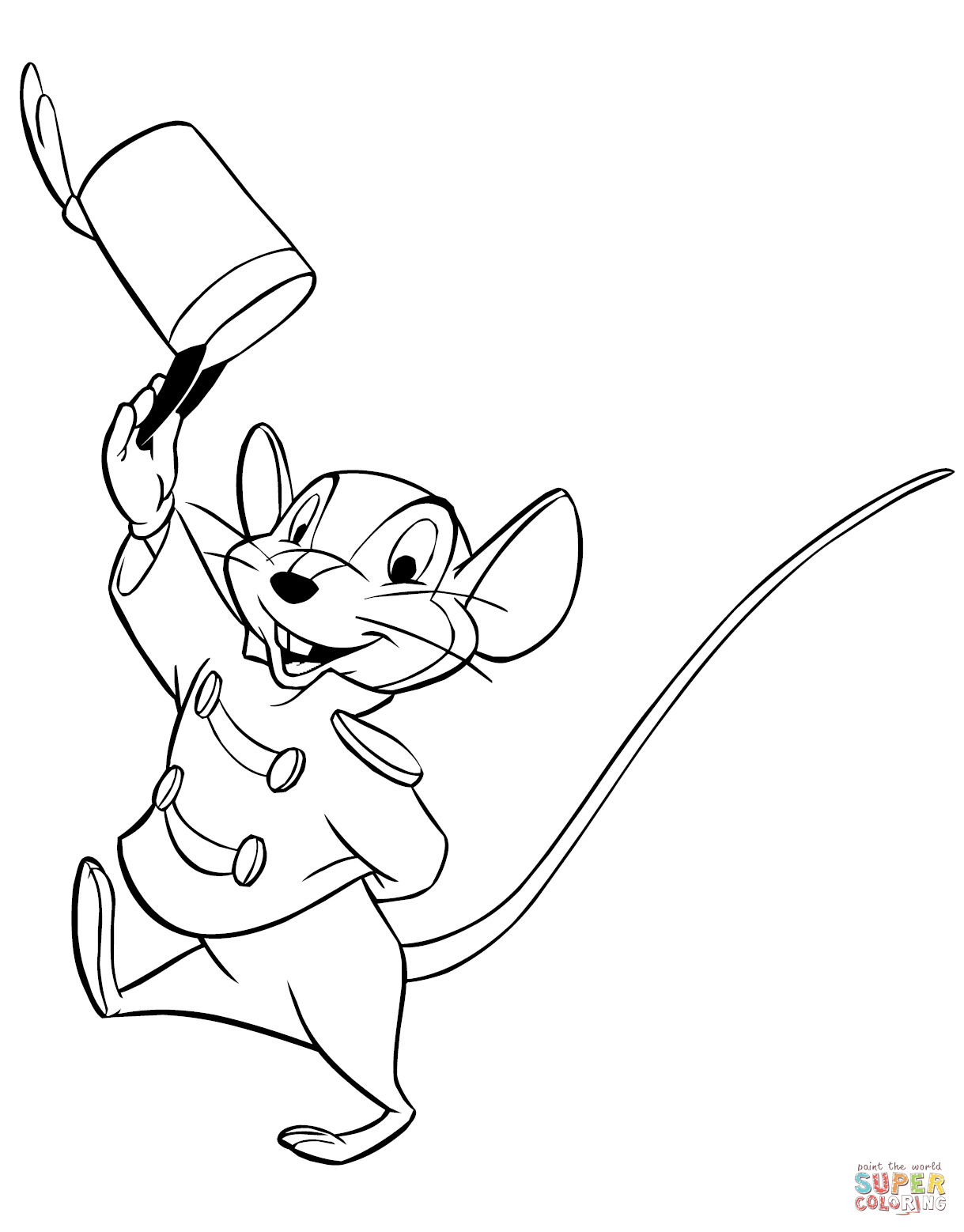 Timothy Q Mouse Coloring Page