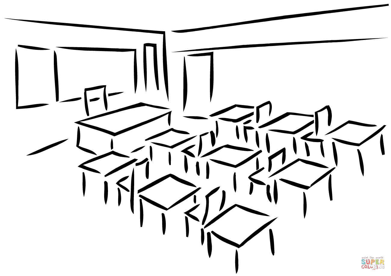 Classroom Objects Coloring Pages Classroom Objects