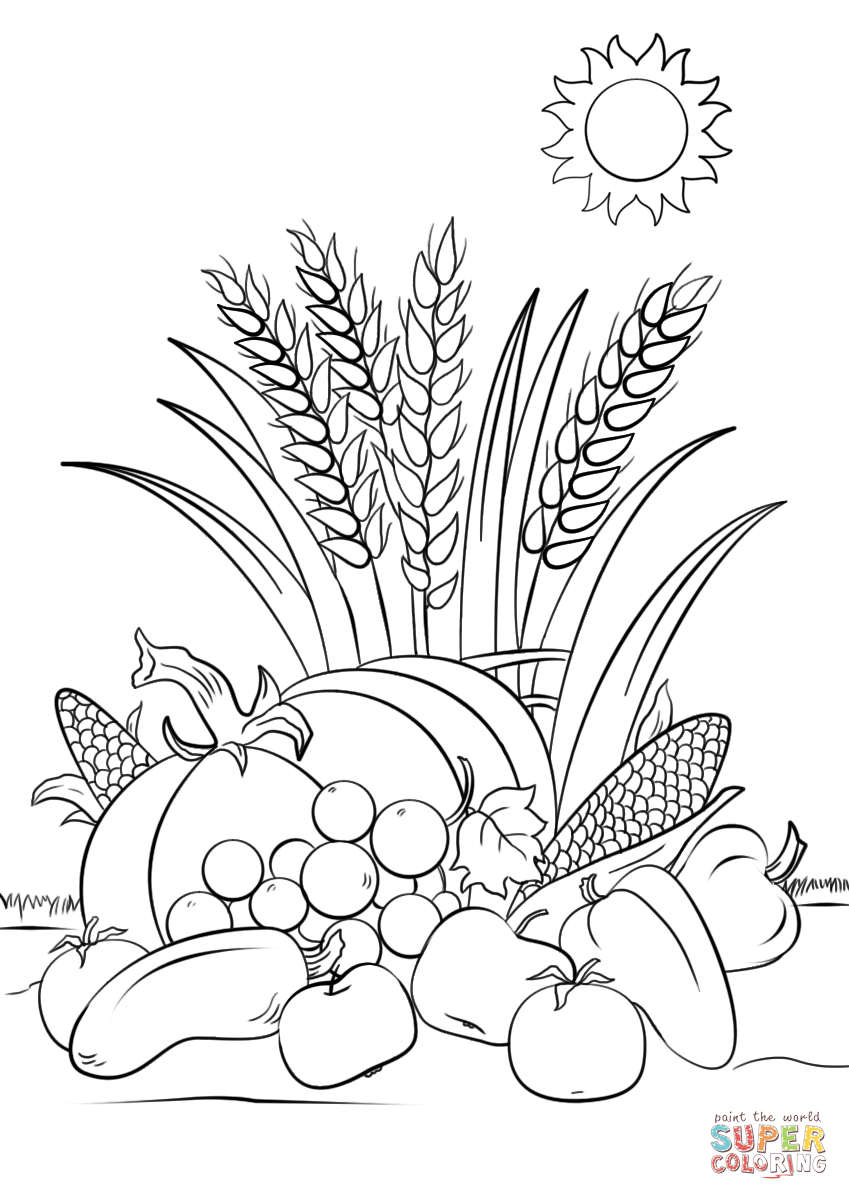 Fall Harvest Coloring Pages Free Coloring Pages Download | Xsibe ...