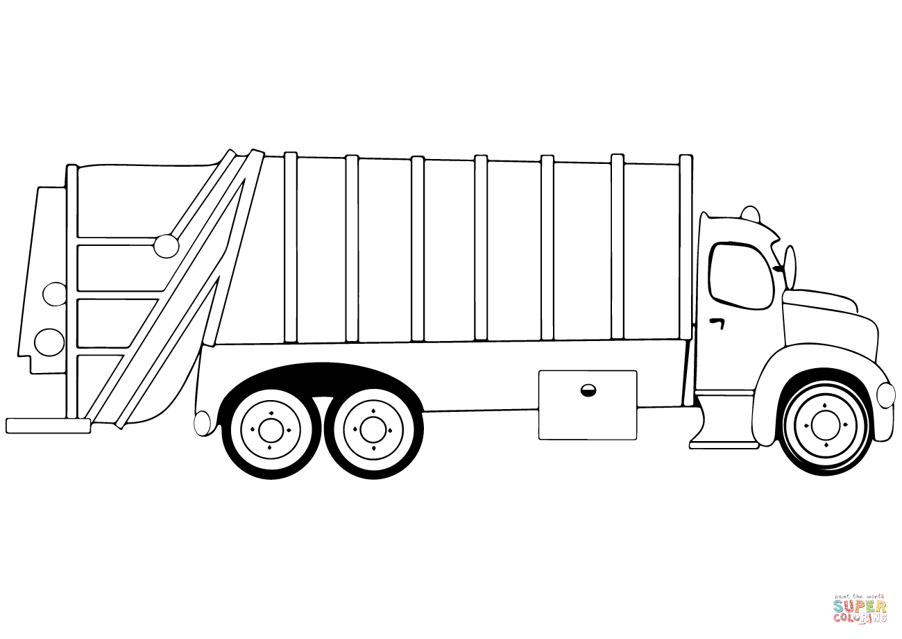 Garbage Truck Coloring Page Free Printable Coloring Pages