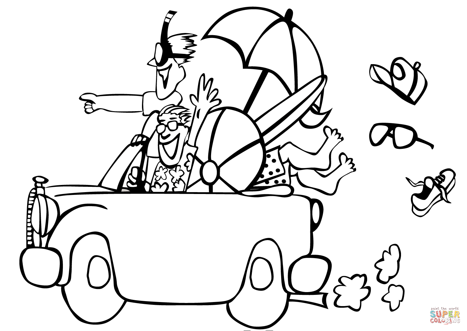 Go To The Beach Coloring Page