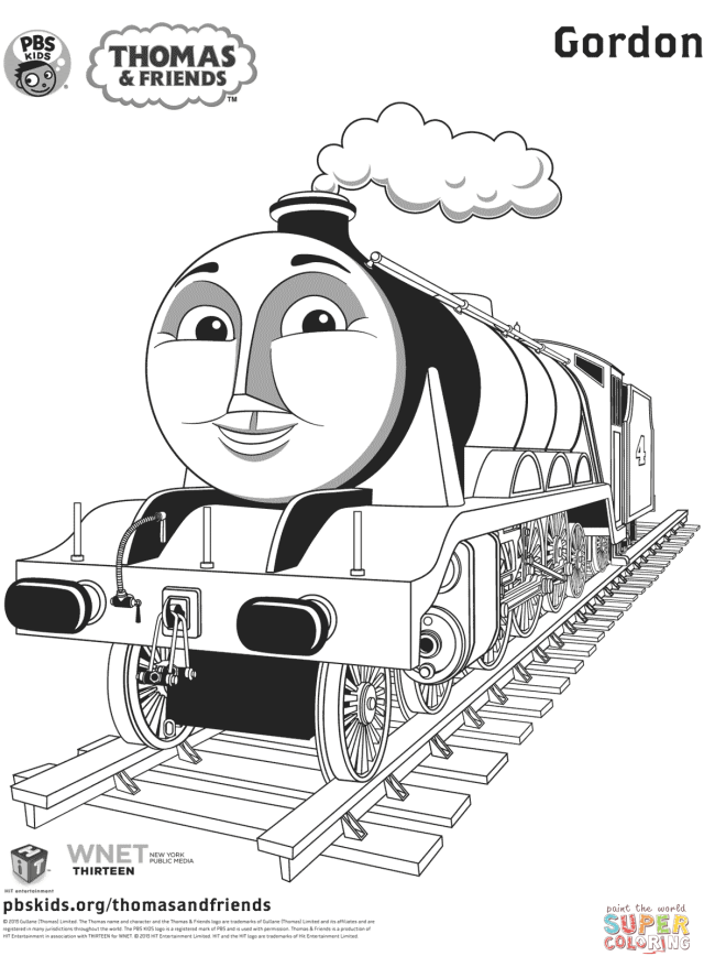 Gordon from Thomas & Friends coloring page  Free Printable