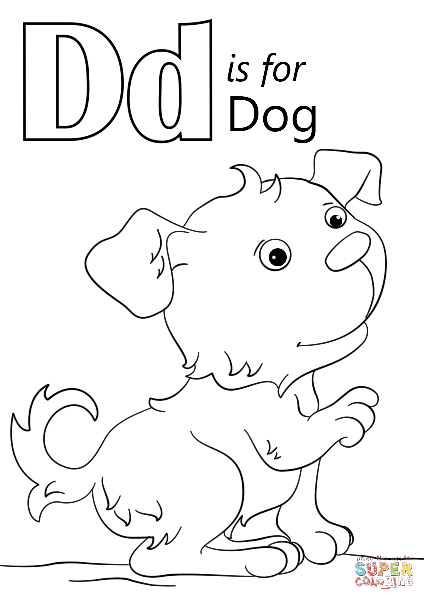 Super Colouring Dogs - Free Coloring Page