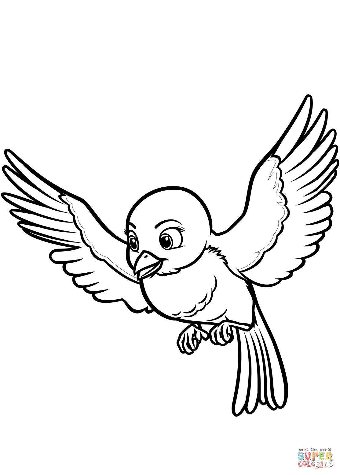 Mia The Bluebird From Sofia The First Coloring Page Free