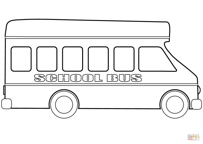 School Bus Coloring Page Free Printable Pages