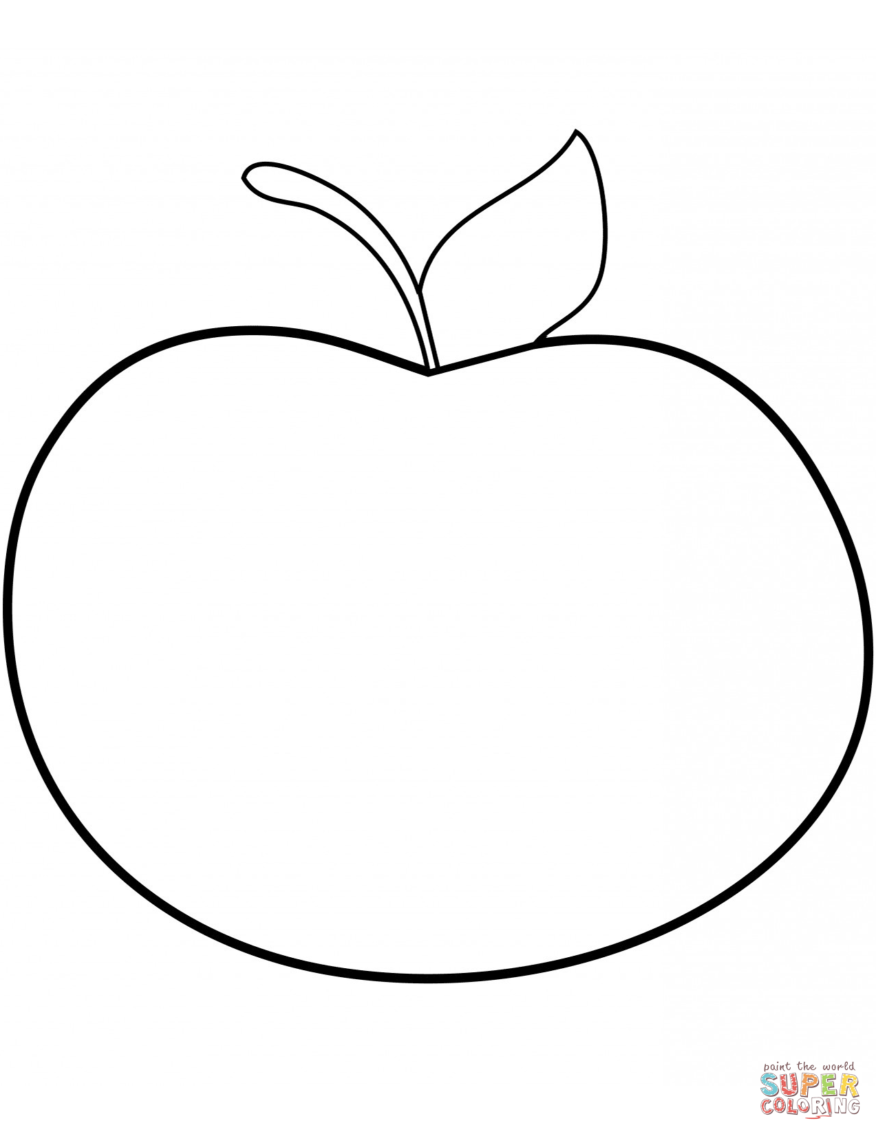 Simple Apple Coloring Page Free Printable Coloring Pages