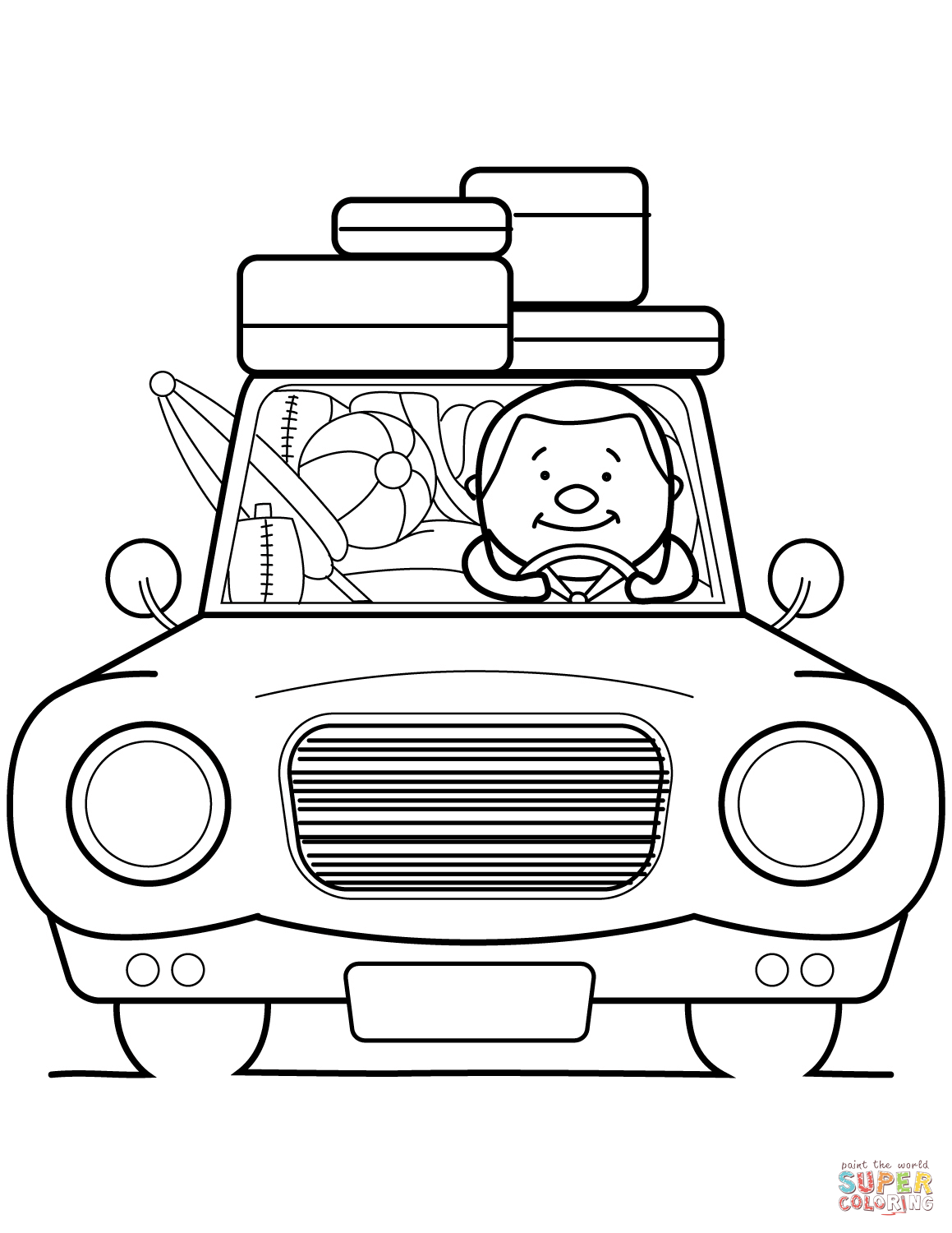 Go Summer Vacation Coloring Page