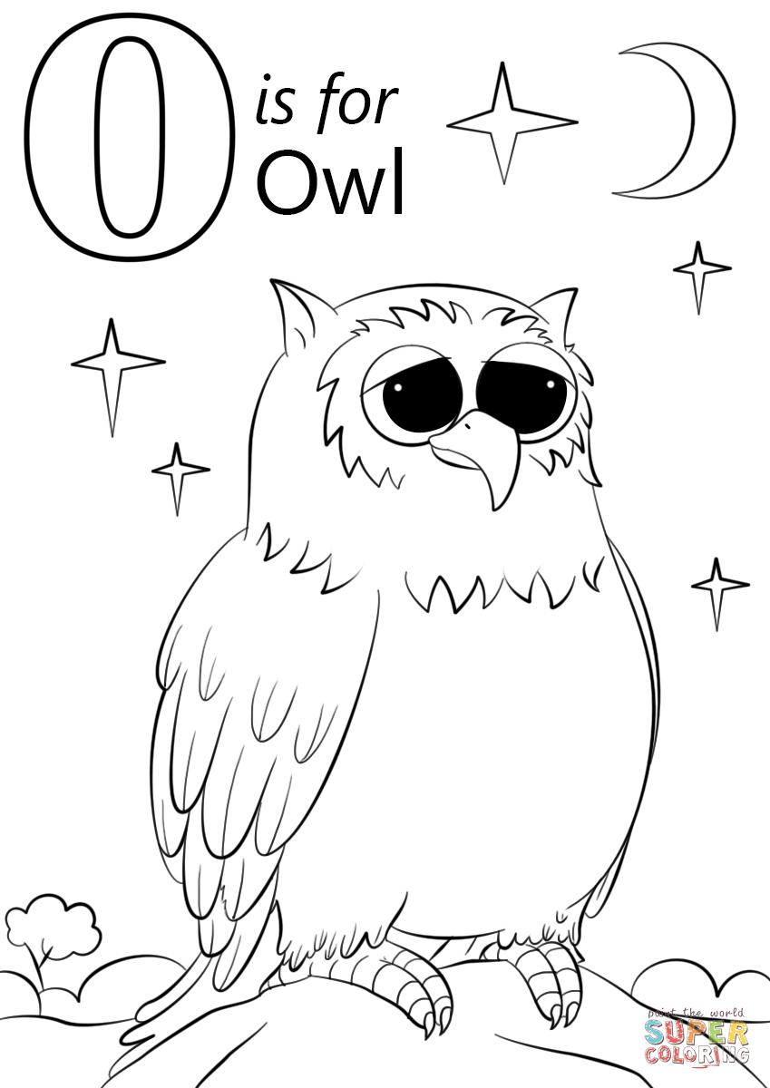 Letter O Is Owl Col G P Ge Free Pr T Ble Col G P Ges