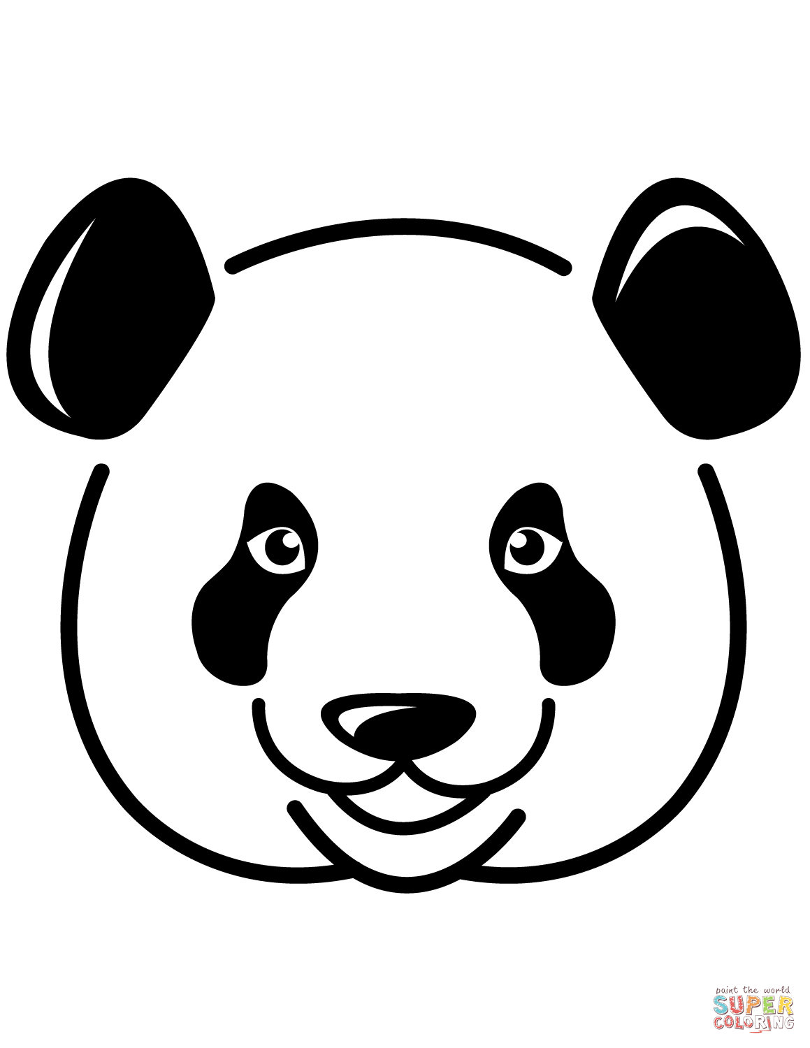Panda S Face Coloring Page