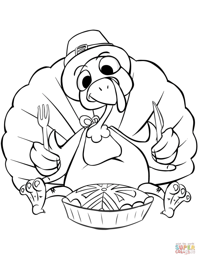 Thanksgiving Dinner coloring page  Free Printable Coloring Pages