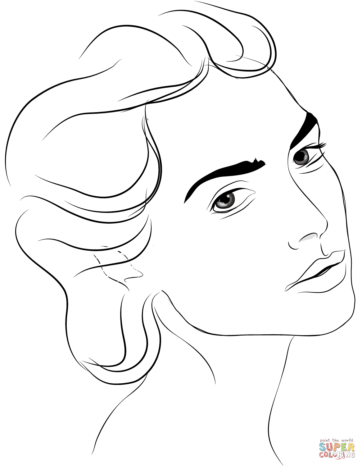 Woman S Face Coloring Page Free Printable Coloring Pages