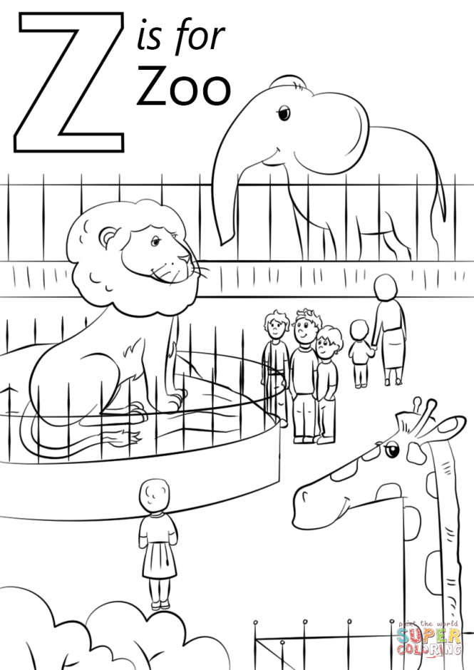 Click The Letter Z Is For Zoo Coloring Pages To View Printable
