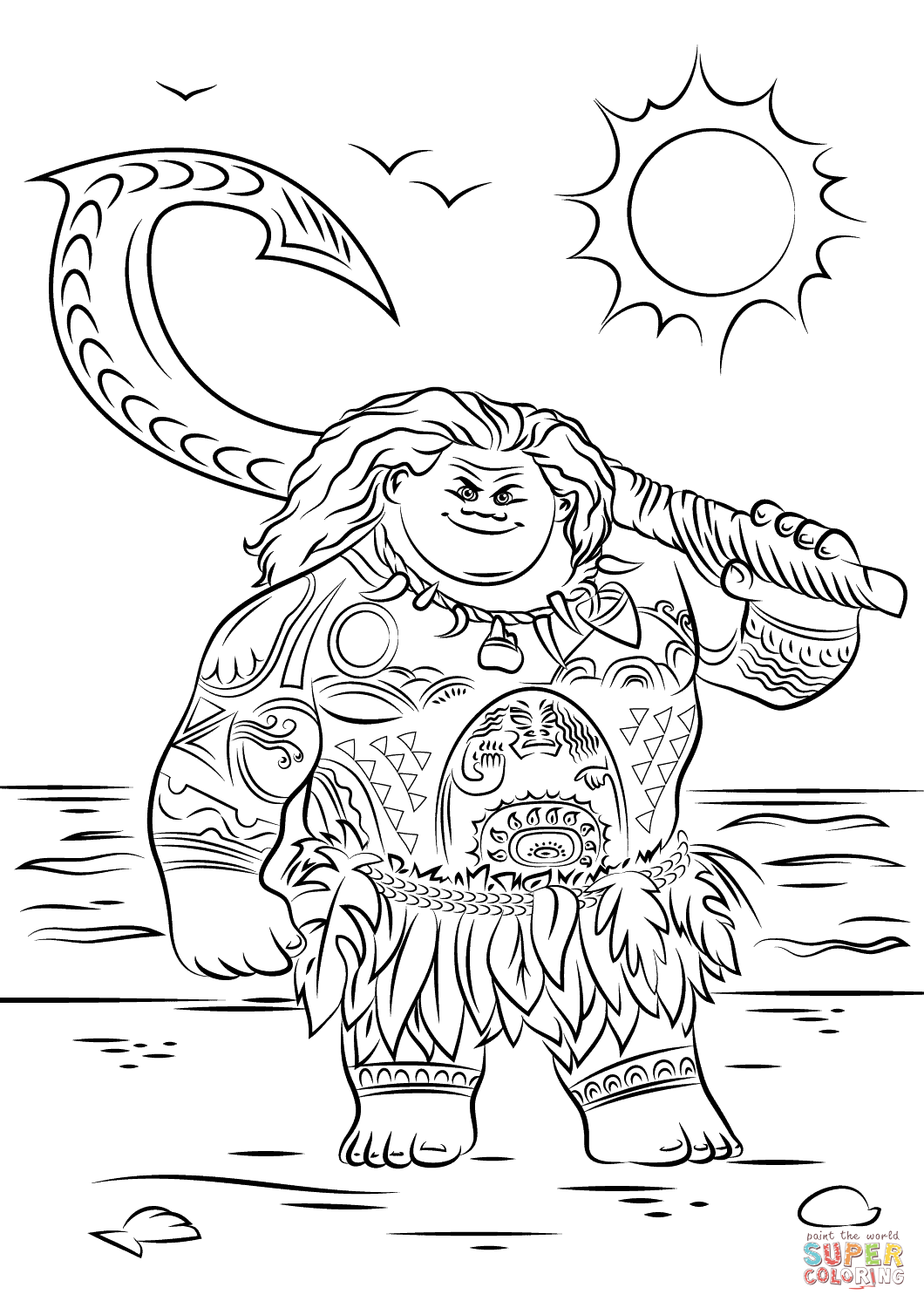 Maui Coloring Pages