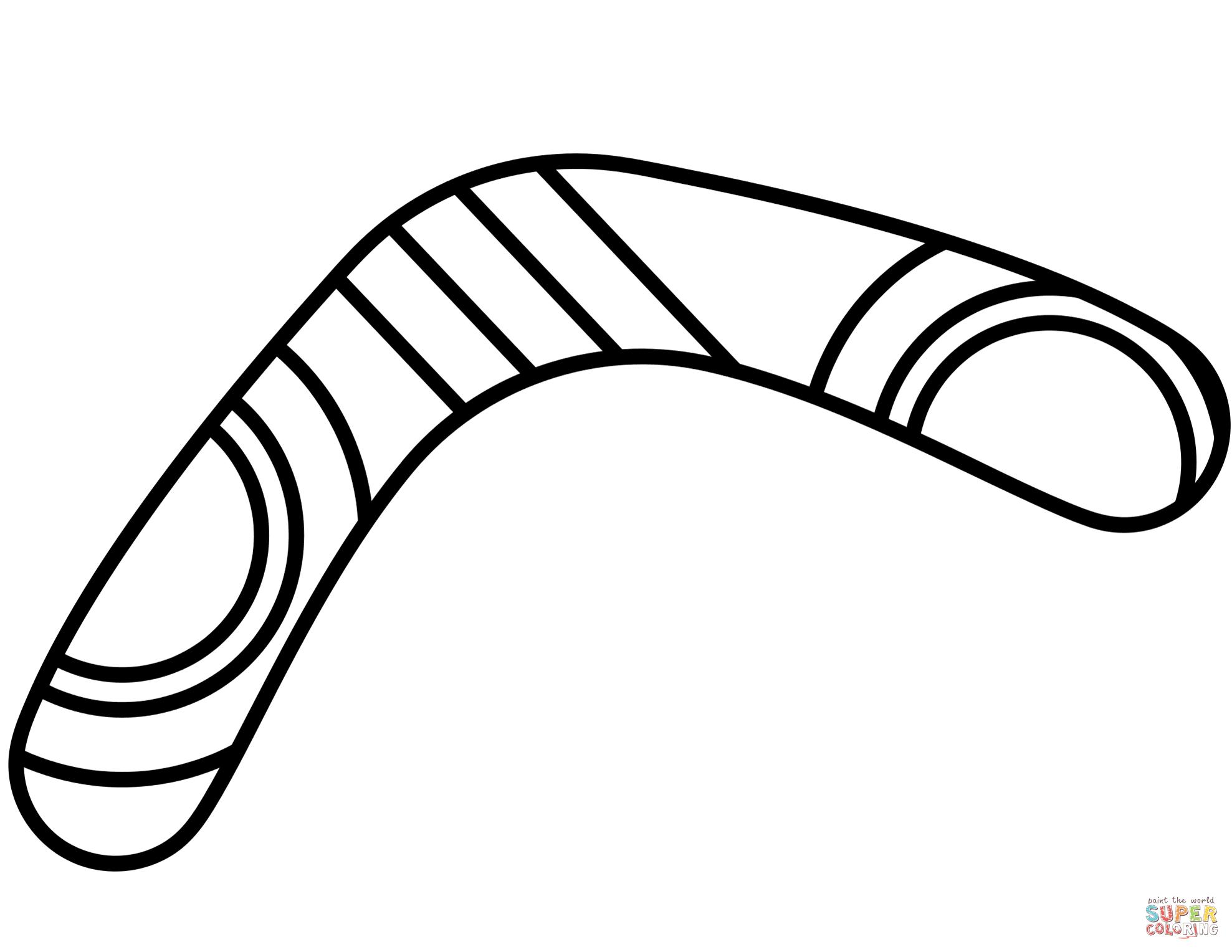 Boomerang Coloring Page