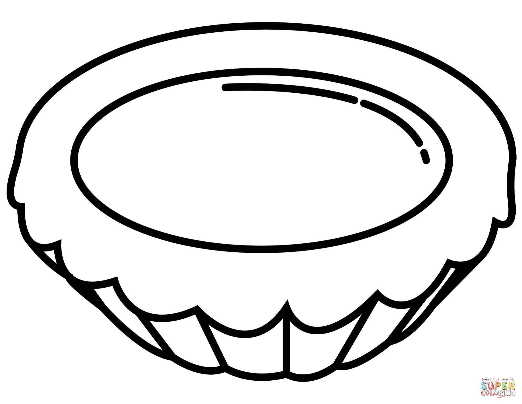 Egg Tart Coloring Page