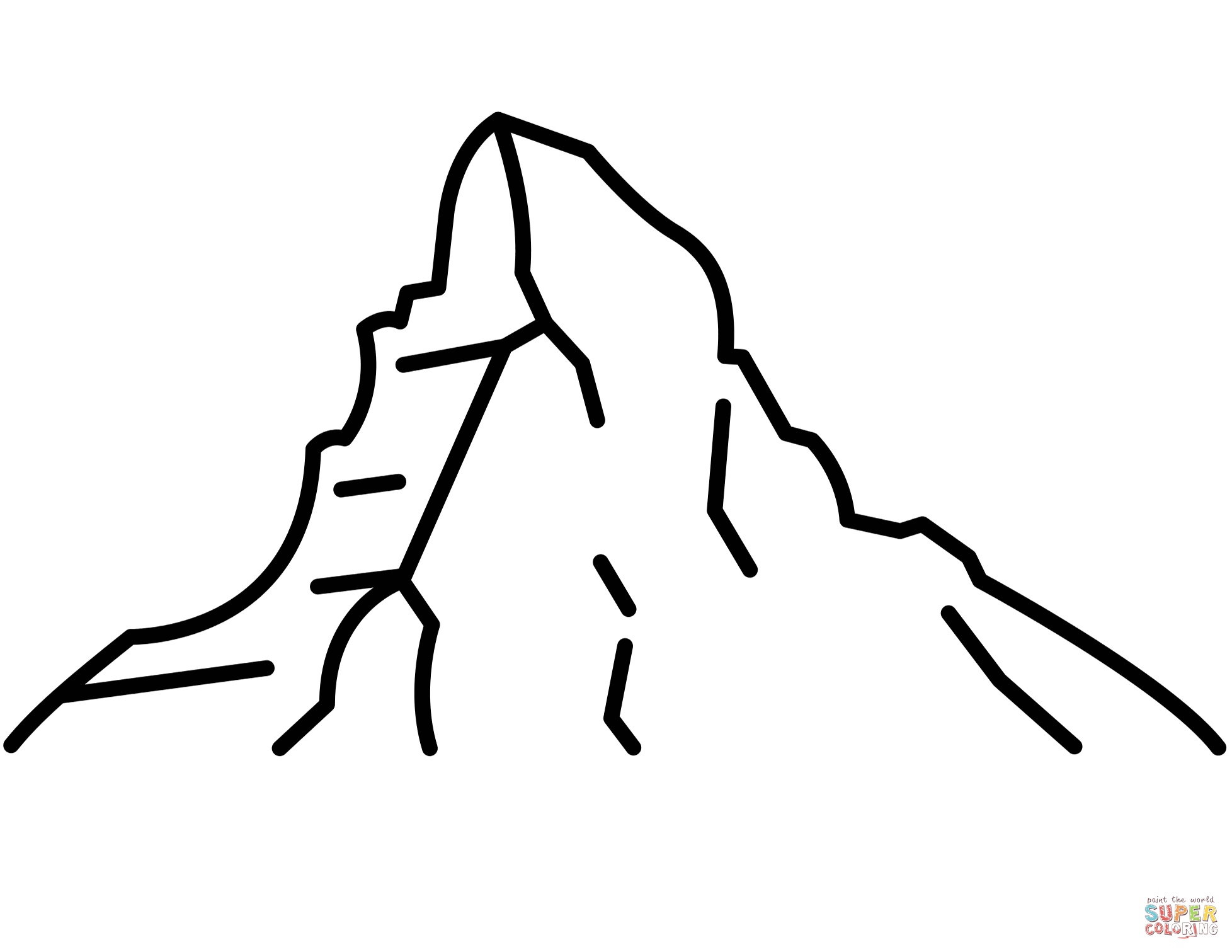 Matterhorn Coloring Page