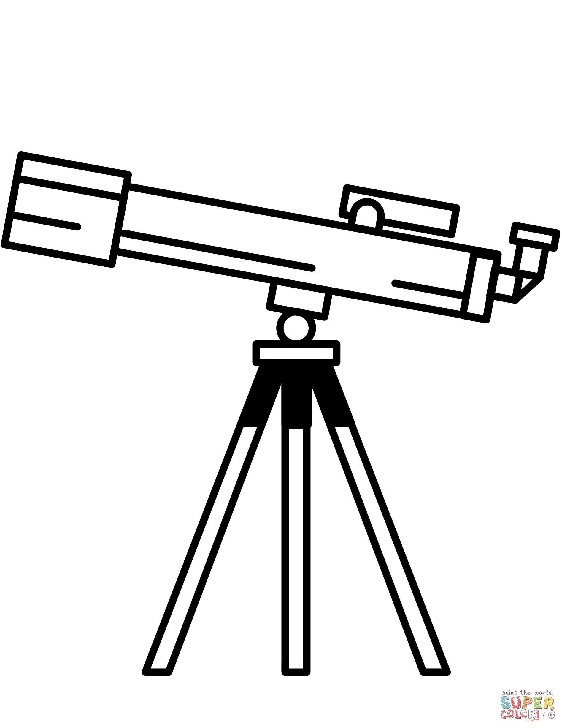 Telescope Coloring Page