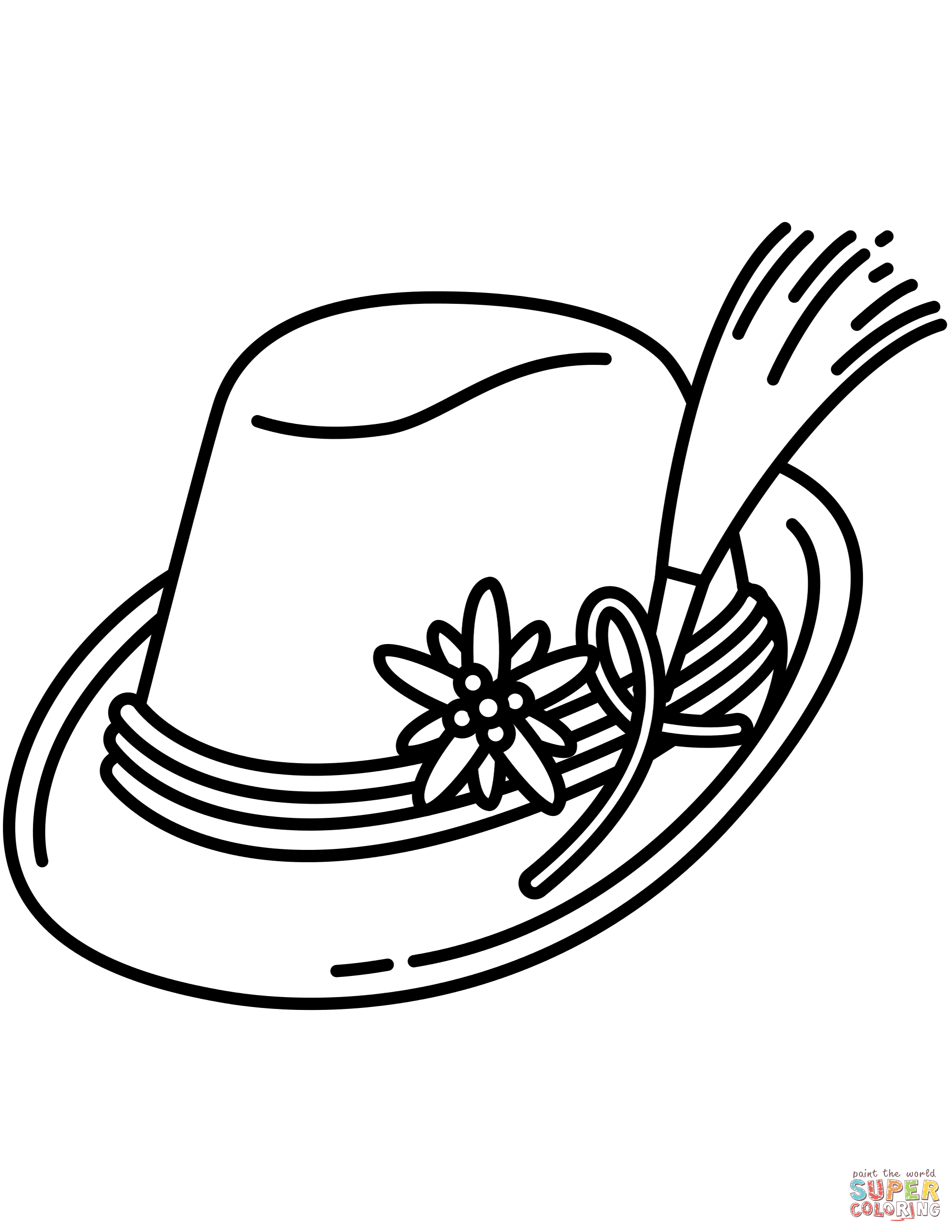Bavarian Hat Coloring Page