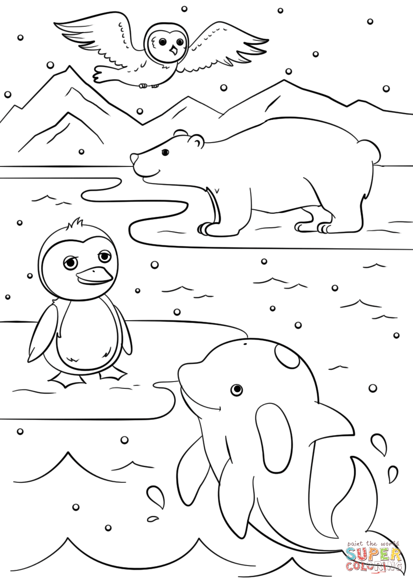 Winter Animals coloring page | Free Printable Coloring Pages | free printable colouring sheets animals