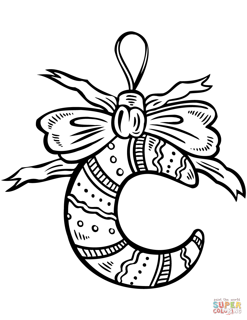 Christmas decoration coloring for Christmas decoration coloring pages