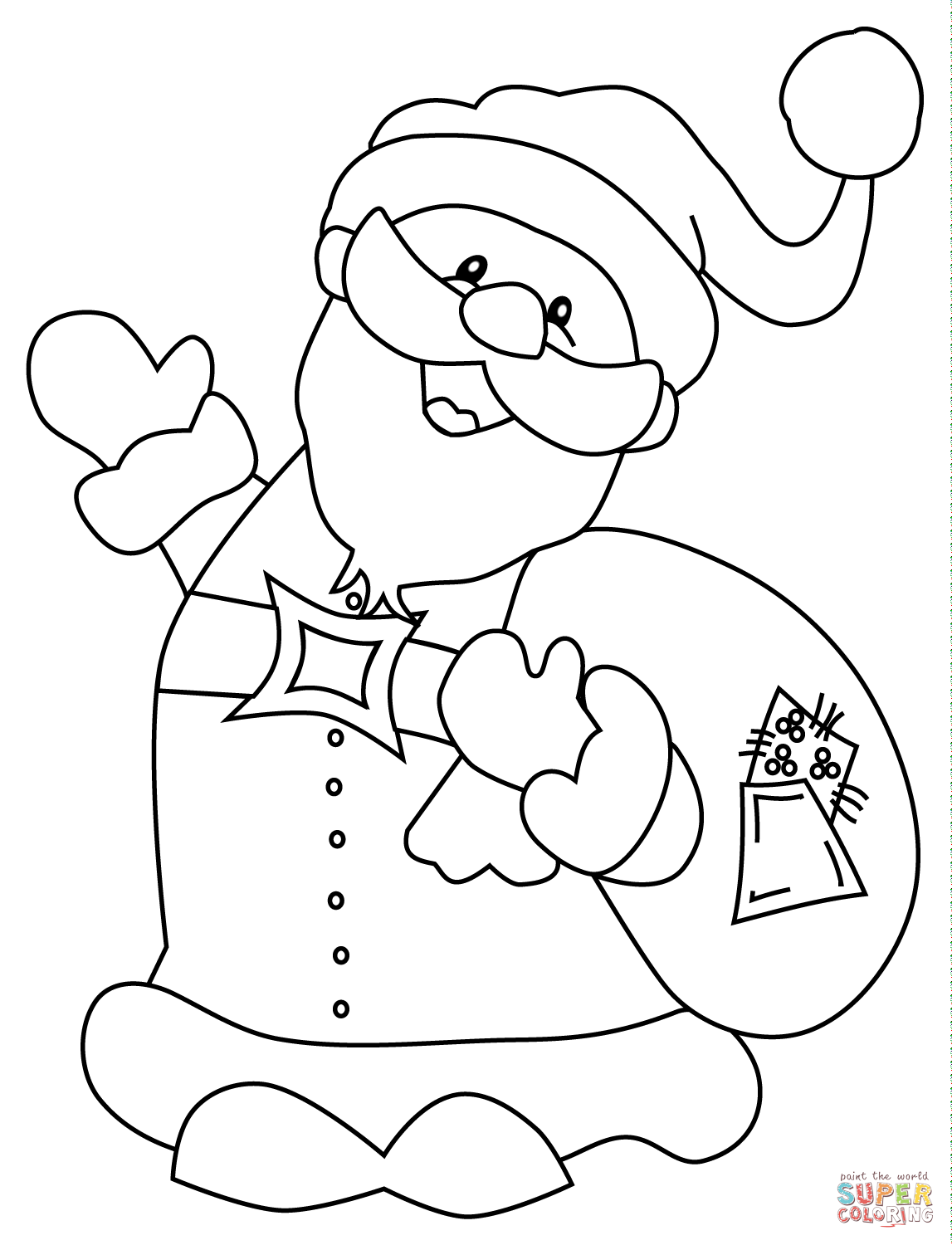 Santa Claus Mobile Az Coloring Pages Sketch Coloring Page