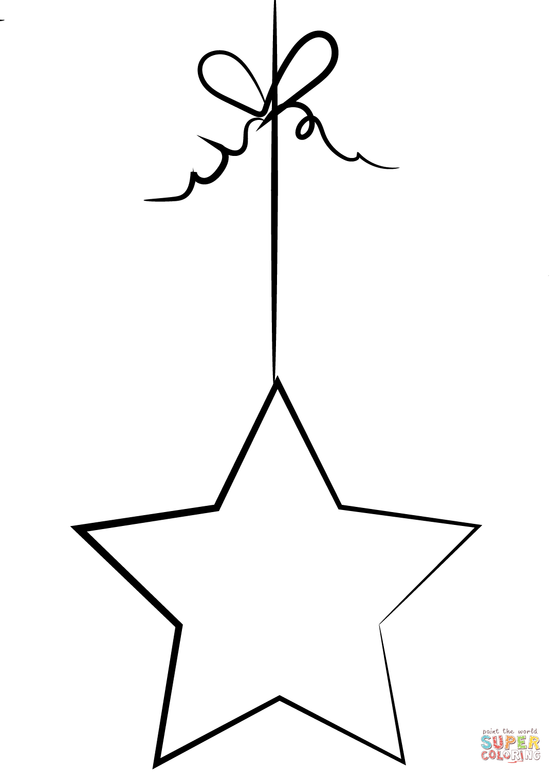 Star Ornament Coloring Page Free Printable Coloring Pages