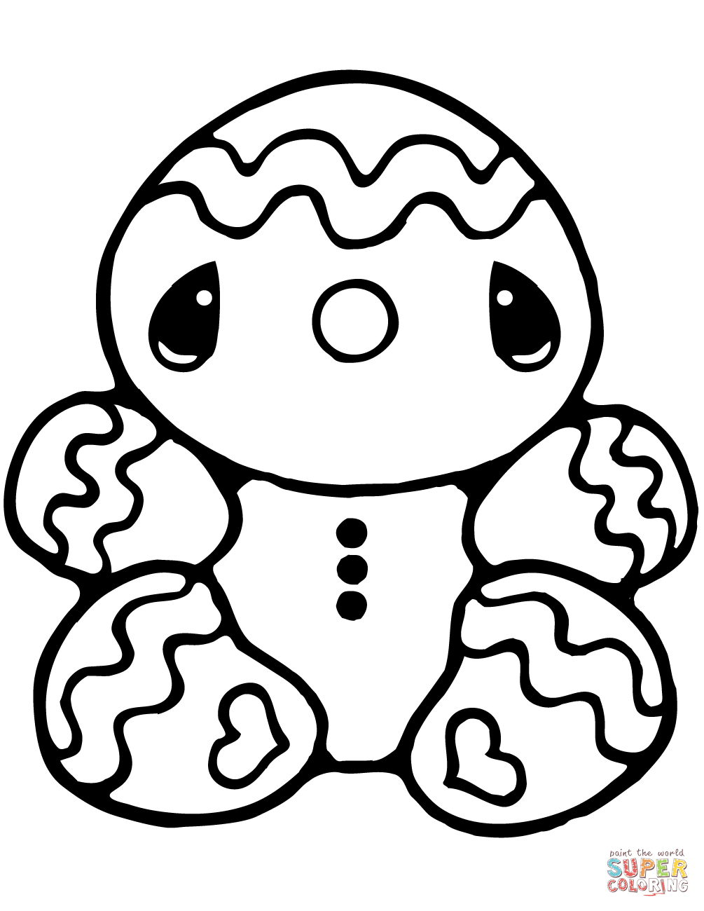 Christmas Gingerbread Coloring Pages Free Coloring Pages