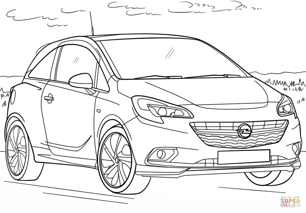 Opel Corsa Coloring Page
