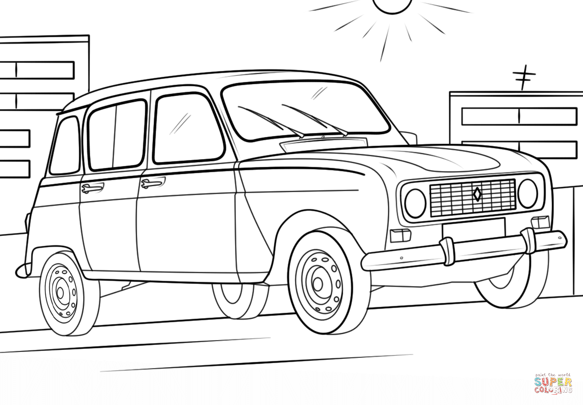 Renault 4 Coloring Page